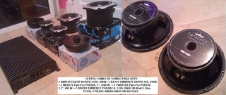 Amplificador Kicker Xs50+8 Cornetas Combo Sonido Para Auto