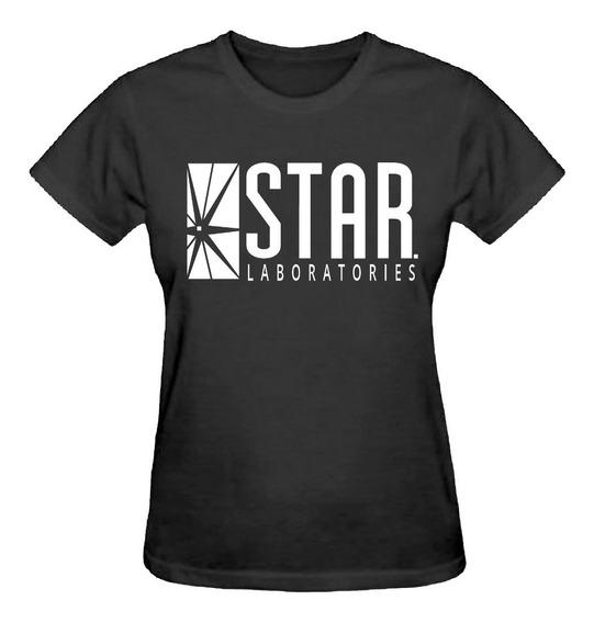 Camiseta Baby Look Feminina Star Laboratories