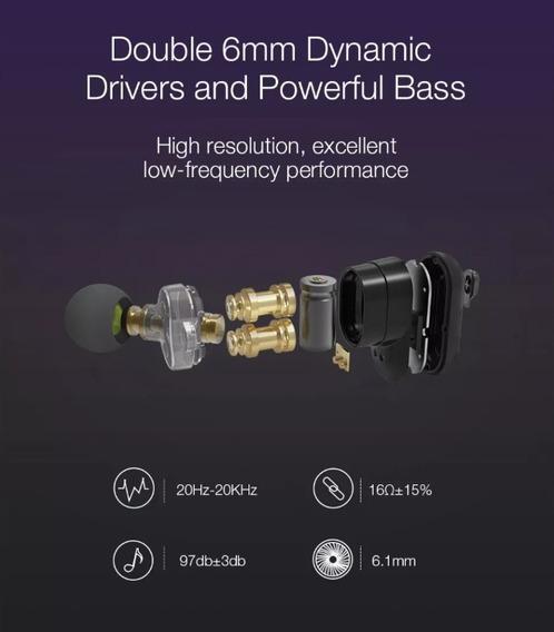 Fone Bluetooth 5.0 Blitzwolf® Bw-fye7 True Hi-fi Stereo