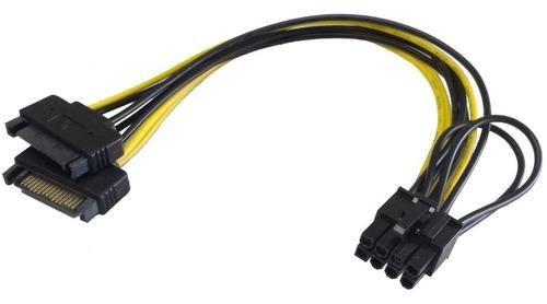 Cable Adaptador Dual Sata A Pcie 6/8 Pin Gpu Video 2 Unidade