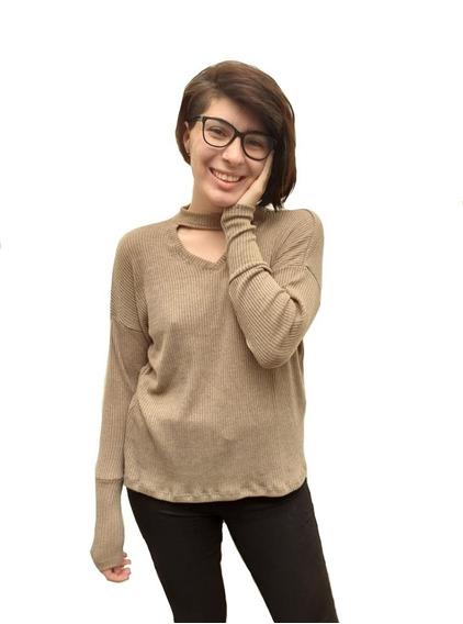 Buzo Sweater Mujer Lanilla Moda