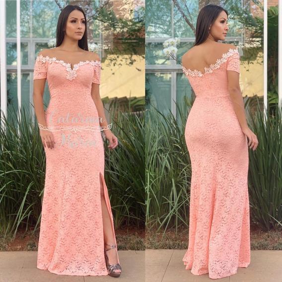 Vestido Noiva Civil Ensaio Casal Brilho Luxo Branco Salmon