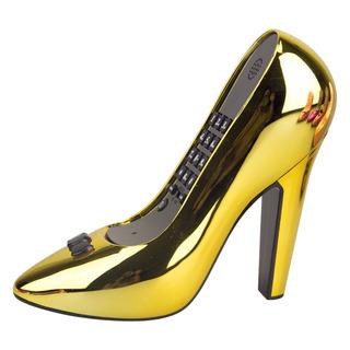 Telefone Com Fio De Formato Sapato Salto Alto Cor Dourado
