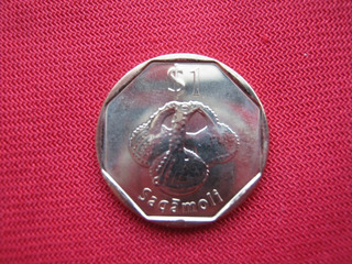 Fiji 1 Dolar 2012 Fauna Lagarto