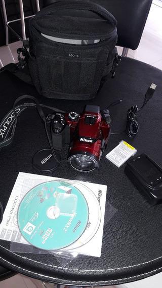 Câmera Digital Nikon Coolpix P500 12.1 Mp Vermelha