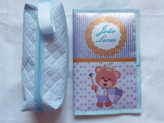 Kit Com Capa De Cartão De Vacinas E Necessaire Box