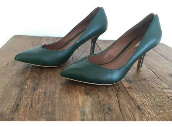 Sapato Scarpin Verde Zara N.35