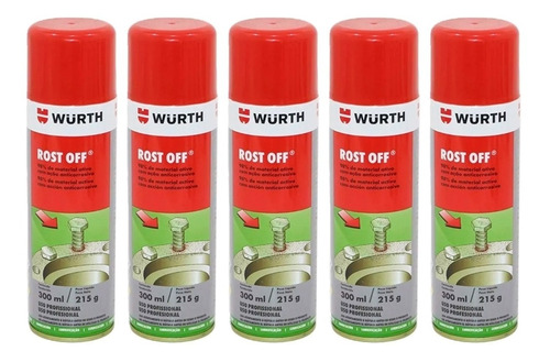 Kit C/ 12 Rost Off Wurth 300ml - Micro Óleo Desengripante
