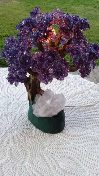 Luminária Rústica De Pedra Semi Preciosa