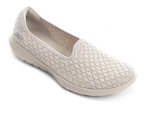 Tênis Skechers Feminino Go Walk Lite - Daisy Original Nf