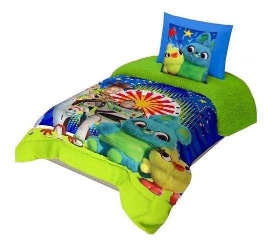 Cobertor Individual Toy Story 4 Estrellas Con Borrega