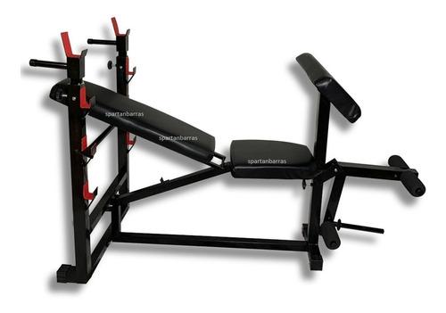 Banca Multifuncional Gym Con Rack Y Predicador
