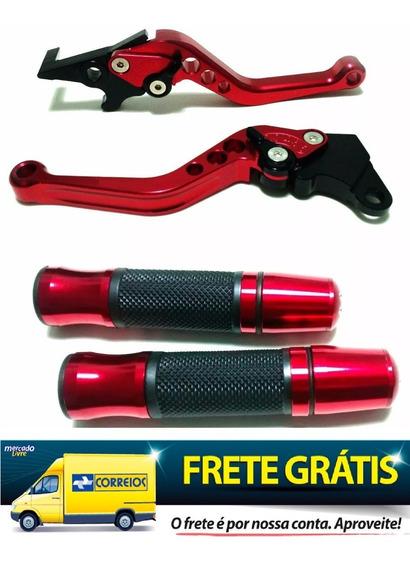 Manete + Luva Manopla Esportiva P/moto Cb 300 Vermelho