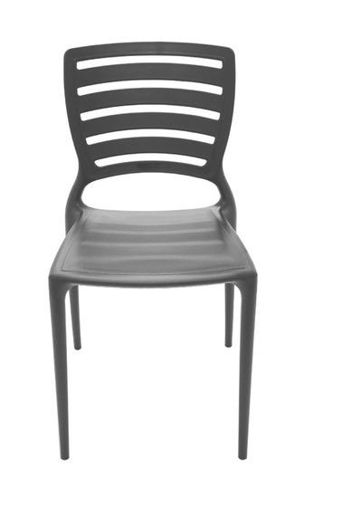 Cadeira Sofia Encosto Vazado Hz Preto