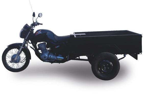 Triciclo 160cc Fusco Motosegura Caçamba Aço 2020 300kg