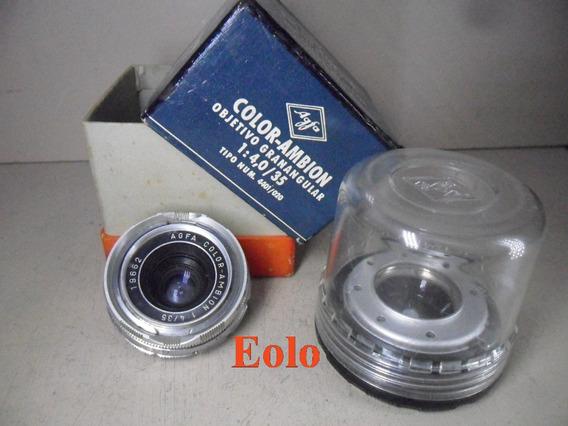 Lente Color Ambion 35mm F4 P/ Agfa Ambi Silette * Ñ Leica &