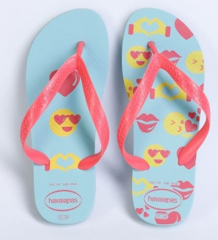 Chinelo Feminino Havaianas Ice Blue Basic Color Silk