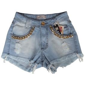 Short Feminino Jeans Colorido Customizados