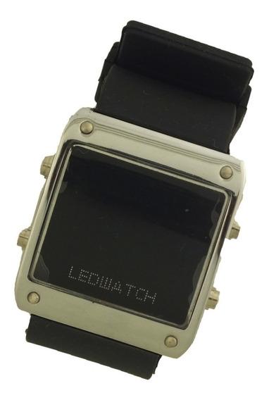Oferta Relógio Pulso Masculino Ledwatch Prata E Preto B5658