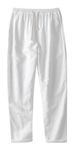 Pantalones Sueltos Para Hombre De Lino Recto Transpirable Mercado Libre