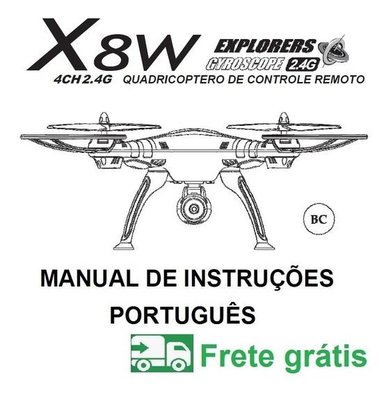 Manual Em Português Do Drone Syma X8w
