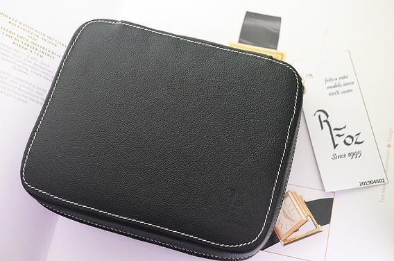 Porta Relógios 4 Unds Leather Zip Folder - Lindo 201904602