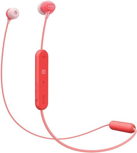 Imagen 1 de 4 de Sony Wi-c300 Red Audifonos Bluetooth Manos Libres