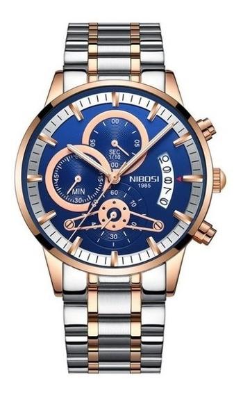 Relógio Nibosi Com Cronógrafo Modelo 2309.1
