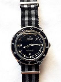 Relógio Omg Mod. Seamaster Pulseira Em Nylon