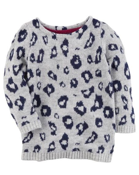 Carters Sweater Sherpa Animal Print Nena Otoño Invierno