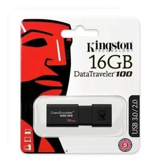 Pen Drive 16gb Kingston Dt100 G3 Usb 3.1 Original