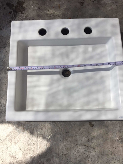 Lavabo Cuadrado Marca Orion Blanco Usado Súper Barato
