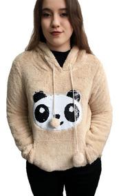 Blusa De Frio Feminina Pelinho Pelúcia Panda Paris Lisa Nf