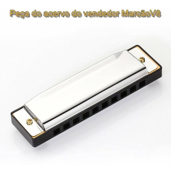 Gaita Instrumento Musical De Sopro, Alumínio E Aço Inox