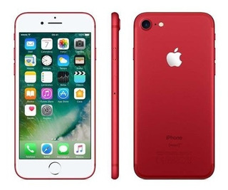 iPhone 7 Vermelho/red Com Tela De 4,7, 4g, 128 Gb E Câmera