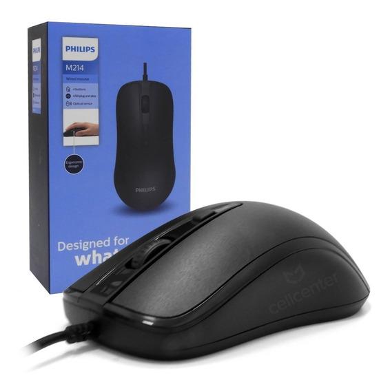 Mouse Óptico 1600dpi Com Fio 1,5m Alta Durabilidade - M214