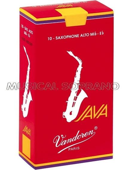 Palhetas Vandoren Java Red Para Sax Alto (com 10) - N° 2