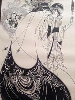 Póster Vintage Año 1974 Aubrey Beardsley Art Nouveau