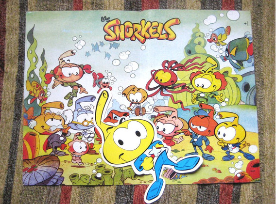 Snorkels - Poster + Figura Hanna-barbera Dibujos Animados Tv