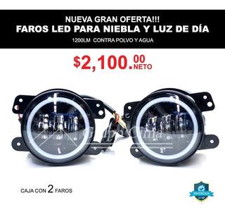 Faros De Niebla Luz Led Para Luz De Dia Y Noche 1200lumens