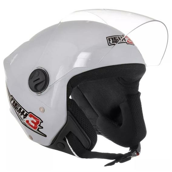 Capacete Moto Aberto New Liberty 3 Three Branco Pro Tork