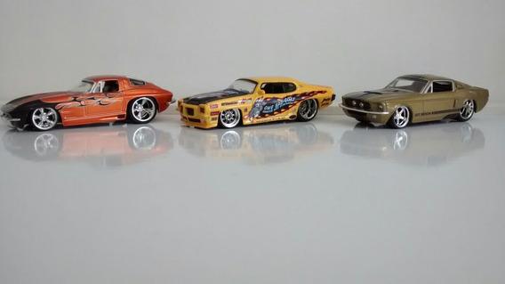 Set3: Vette Stingray+ Shelby Gt 500+ Pontiac Gto = Jada 1:64