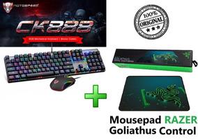 Kit Teclado Mouse Gamer Motospeed Ck888 + Mousepad Razer