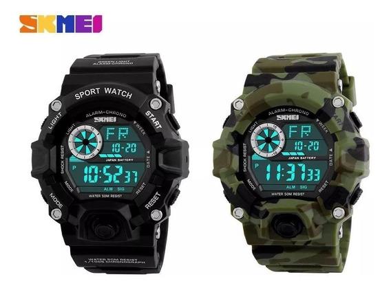 Duas Unidades Relógio Militar Skmei Digital + Frete Grátis