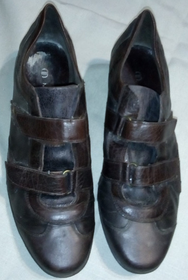 Zapatos Bettina Mujer Marrones N° 39 De Cuero Súper Cómodos
