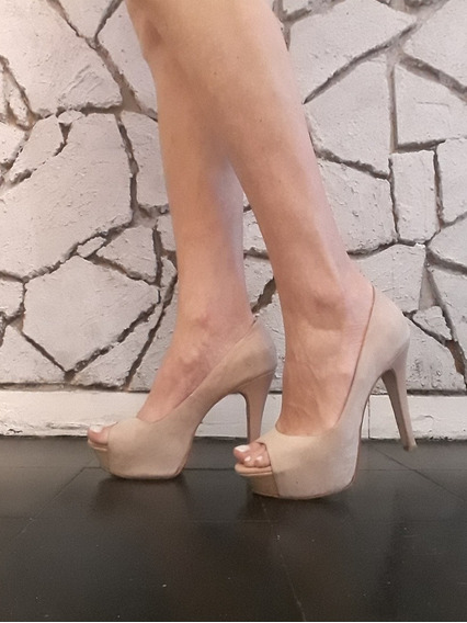 Zapatos Stilettos Color Nude Maggio Rossetto Numero 38