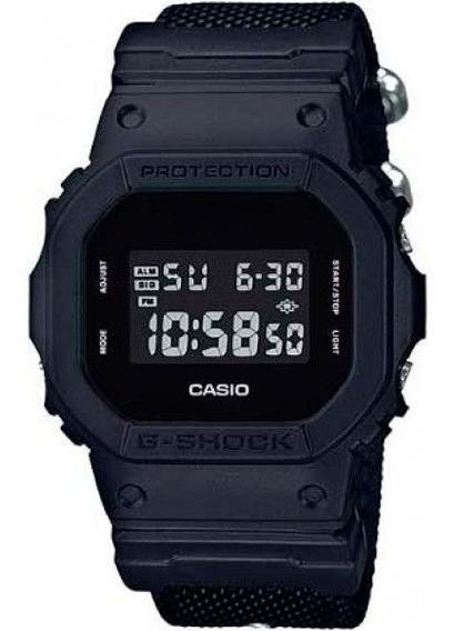 Relógio Casio G-shock Dw-5600bbn-1dr Pulseira Cordura