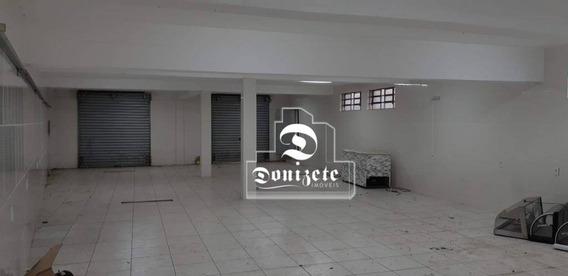 Salão À Venda, 220 M² Por R$ 680.000 - Vila Homero Thon - Santo André/sp - Sl0061