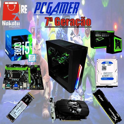 Imagem 1 de 1 de Pc Gamer 7a. I5 7400 + H310 +nvme 128 + 8gb Hyper + Nfe