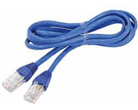 Cabo De Rede Ethernet Cat5e 3 Metros Montado Rj45